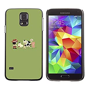 Stuss Case / Funda Carcasa protectora - Funny Cute Farm Animals - Samsung Galaxy S5