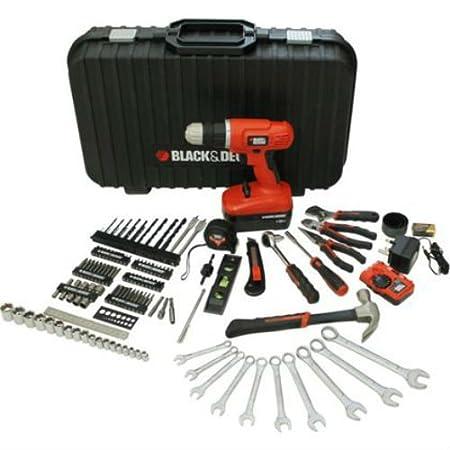 5b376d3e6 Black & Decker 132 Piece 18v Drill Driver Set: Amazon.co.uk: DIY & Tools