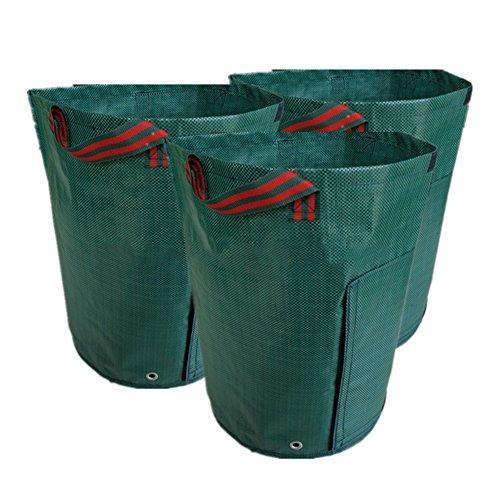 Integral Carry Handle - eronde 3Pcs 7 Gallon Garden Planter Bag Grow Bags with Handles for Potato, Carrot, Tomato, Onion