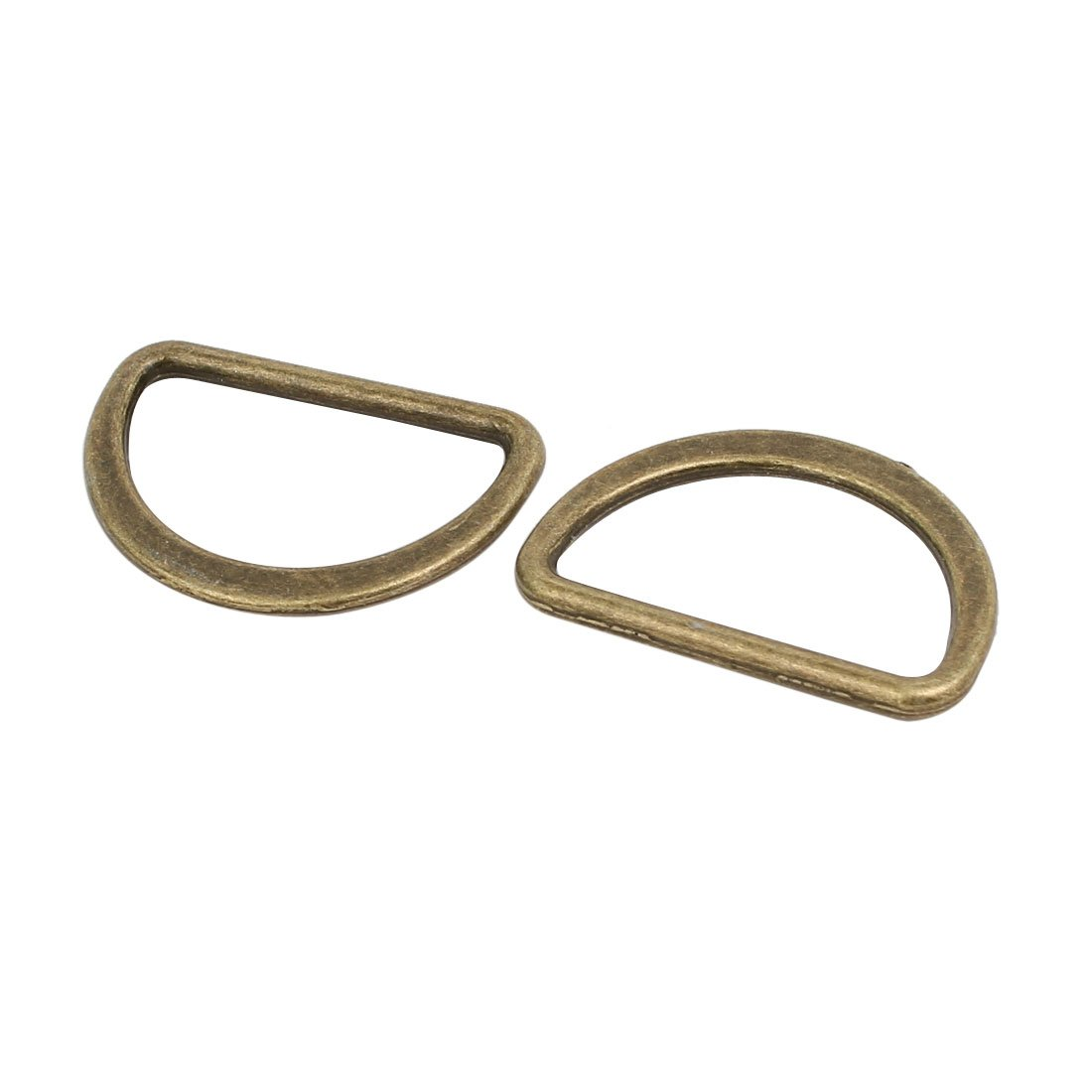 sourcingmap 25 St/ück 25mm D-Ringe Halbringe geschwei/ßt Zinklegierung Flach Ring Bronzeton DE de