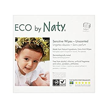 Naty Eco Wischt Unscented 3 X 56 Pro Packung - Packung mit 6