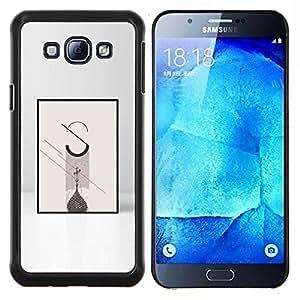 "Be-Star Único Patrón Plástico Duro Fundas Cover Cubre Hard Case Cover Para Samsung Galaxy A8 / SM-A800 ( Cartel Significado Minimalista Gris"" )"