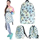 Giant Knapsack - Unisex Print Backpack Travel Rucksack Girl School College Student Bag - Bear Red Ailuropoda Melanoleuca Haversack Cat Ailuru Fulgen Lesser Coon - 1PCs