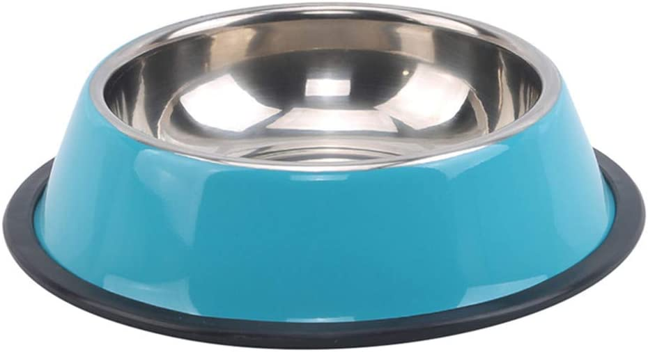 INSEET Stainless Steel Dog Bowl for Small Medium Large Dogs Pets Feeder Bowl and Water Bowl,15Cm Blue