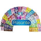 Günstige Kondome Großpackung - 50er Mix Beutel - Der Kondom Mix Enthält z.B Kondome mit Geschmack, Noppen, Ultra Dünn, Extra Starke und Aktverlängernde Kondome