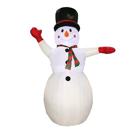 JXJ- Figura Hinchable de muñeco de Nieve Inflable para decoración ...
