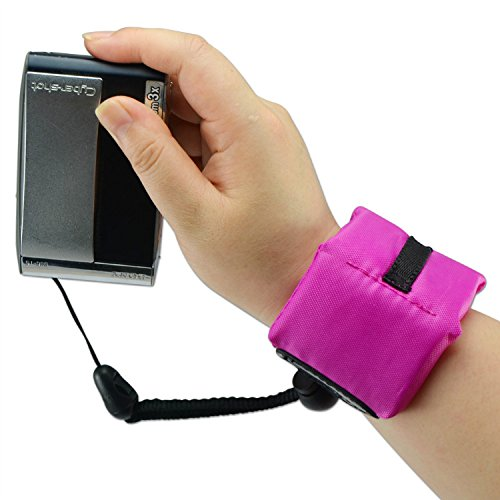 First2savvv PF-XJ-A04 purple Bobber Floating floaty grip Handheld digital camera SLR hand strap grip for SONY DSC-TX20 DSC-W650 DSC-W67 DSC-W690 DSC-WX1 DSC-WX100 DSC-WX70 DSC-WX9 DSC-WX5 DSC-WX150 DSC-WX7 with LENS Cleaning Cloth