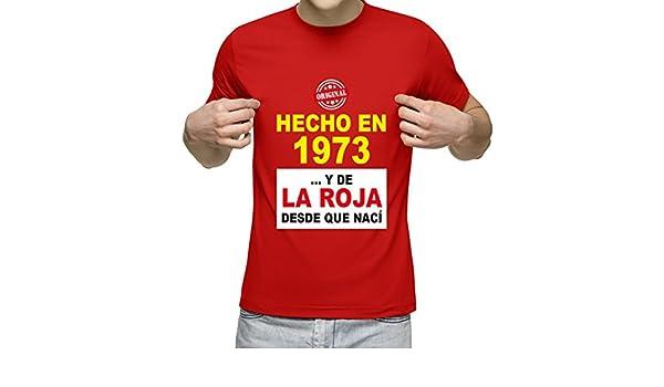 Camiseta Personalizada con Fecha de nacimiento y la Frase Soy de la Roja Desde Que Nací (Rojo): Amazon.es: Ropa y accesorios