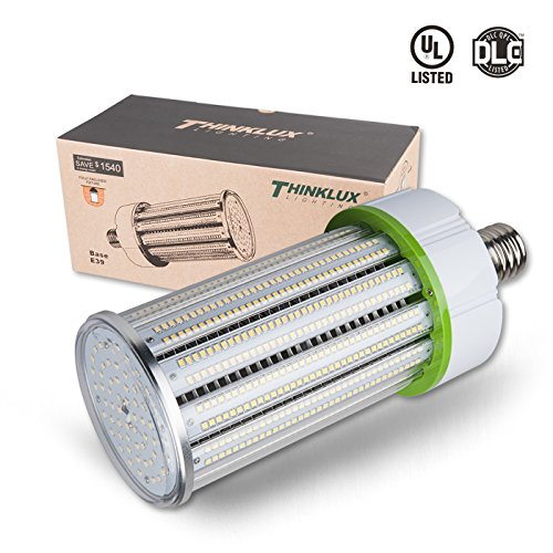 Thinklux 120W 16400 Lumen LED Corn LED Retrofit Bulb, 5000K, 400W Replacement for HID/HPS/Metal Halide or CFL - Wall Pack, Post Top, Street Light Replacement, UL Listed, DLC4.2 Qualified, Rebate Ready