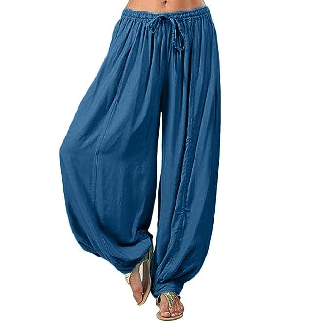 RISTHY Pantalones de Yoga Sueltos Mujer Harem Pantalones ...
