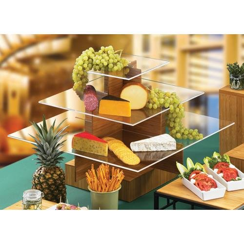 Calmil 1284-60  Cupcake Display, 24'' Length x 24'' Width x 14.5'' Height, Large, Bamboo by Cal Mil