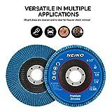 """Neiko 11142A Premium Zirconia Flap Disc   4.5"""" x"""