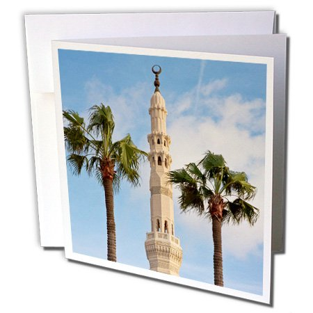 (3dRose Minaret of Mosque, Alexandria, Egypt - Greeting Cards, 6