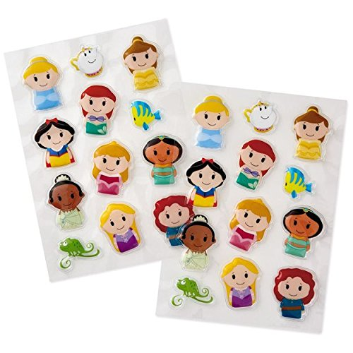 Hallmark itty bittys Disney Princess Puffy Stickers Pack of (Hallmark Stickers)