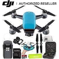 DJI Spark Portable Mini Drone Quadcopter Starter Palm Landing Pad Bundle (Sky Blue)