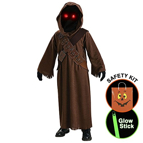 [Boys Star Wars Jawa Costume Halloween Trick or Treat Safety Kit Large] (Trick Or Treat Costumes For Kids)