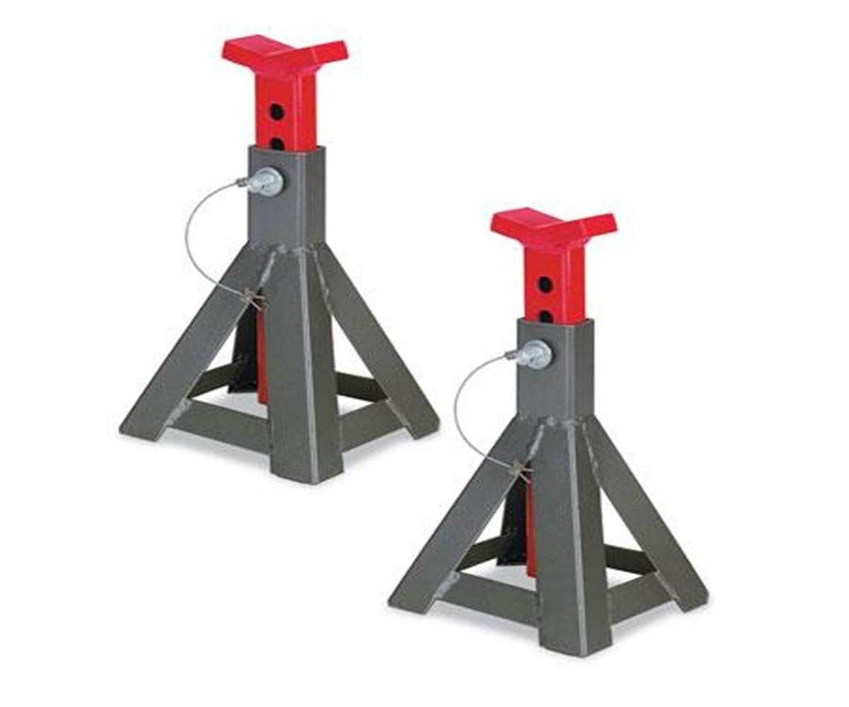 3 Ton Jack Stand with Solid Steel Locking Handle and Durable - 7.6'' L x 6.8'' W x 11'' to 17'' H, 1 Pair