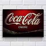 Placa Decorativa em MDF com 20x30cm - Modelo P133 - Coca-Cola