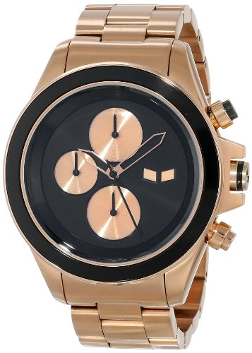 Vestal Unisex ZR2017 ZR-2 Minimalist Rose Gold Black Watch