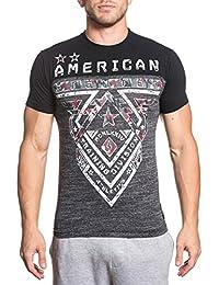 Men's Crossroads Camo Pattern Tee Shirt Heather Grey/Black