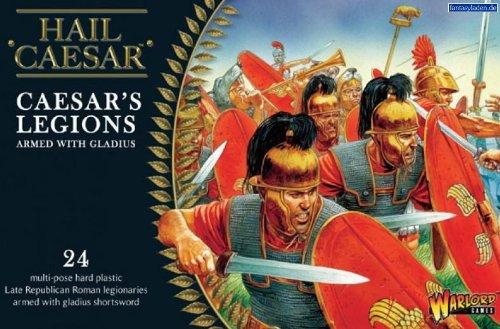 Pack Of 24 Caesarian Romans With Gladius Miniatures