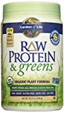 Garden of Life Organic Greens and Protein Powder - Raw Protein and Greens with Probiotics/Enzymes, Vegan, Light Sweet,19.3oz (548g) Powder