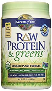 Garden Of Life Organic Greens And Protein Powder Raw Protein And Greens With