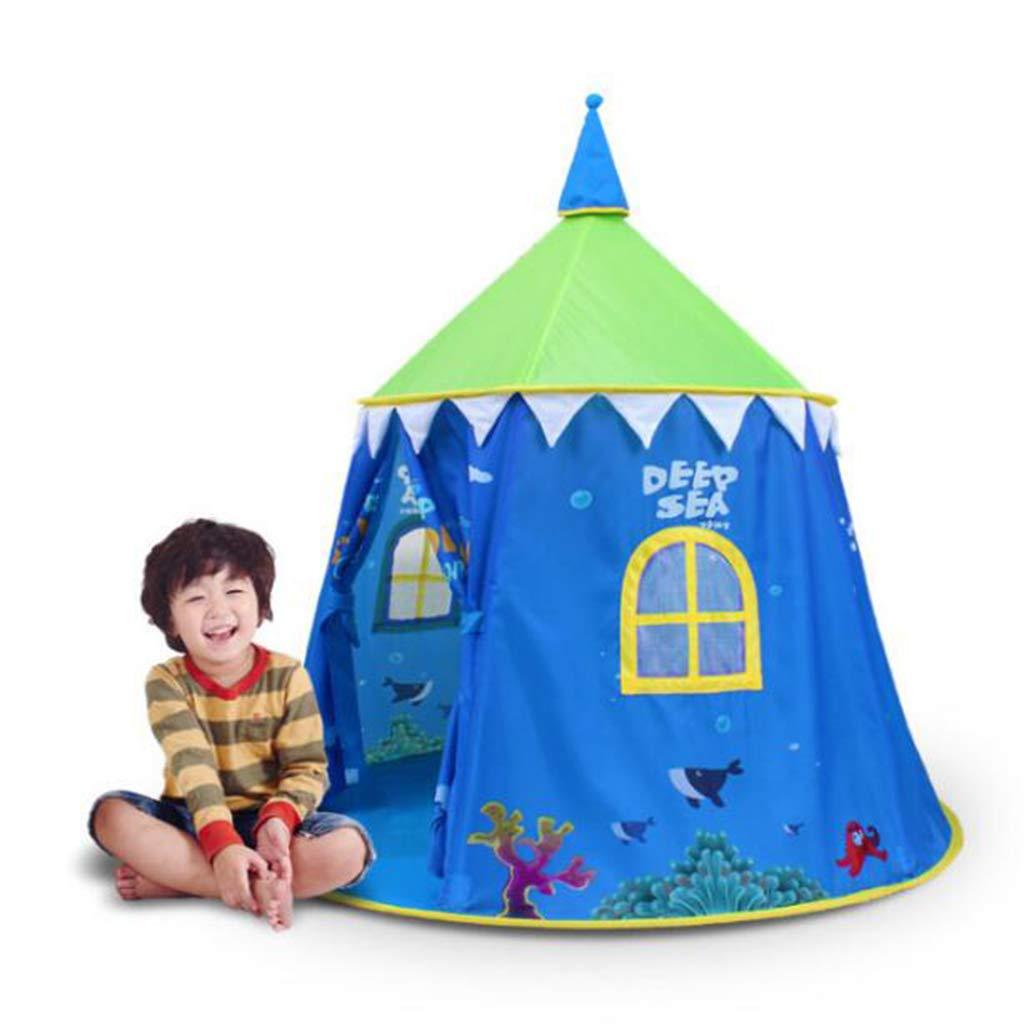 キッズテント子供 誕生日プレゼント ゲームハウス インドア アウトドア テント おもちゃ 城 ポータブル シンプル B07GJGB5TP Blue