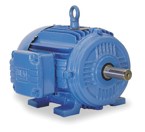 WEG 00158ST3QIE145TC-W22 IEEE-841 NEMA Premium Efficiency Petrochem Electric Motor, 1.5 HP, 3-Phase, 1755 RPM, 460 V, 50/60 Hz, Frame 143/5TC
