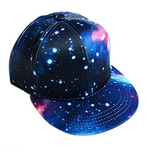 eac230980 Mens Boys Hip-Hop Cap Outdoor Baseball Caps Starry Sky Sun Hats Blue ...