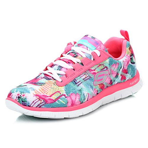 womens pink skechers trainers