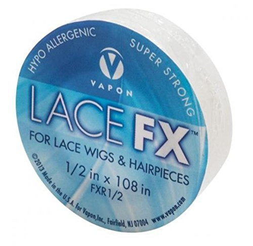 Vapon Lace FX 1/2 Inch X 3 Yards Double Sided Tape For Wig and Toupee   Made in the USA ()