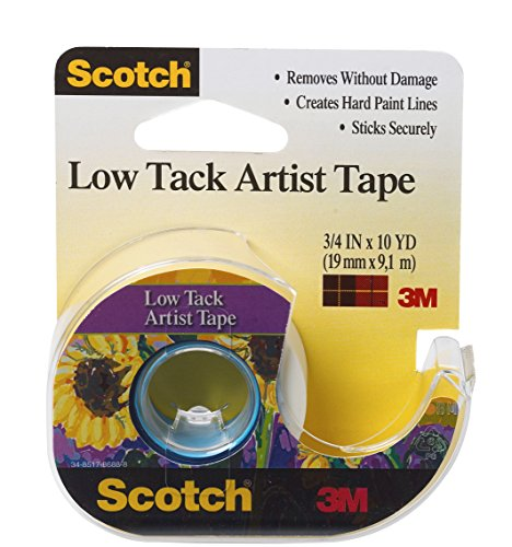 Scotch Artist Tape, 3/4-Inch x 10-Yards, Low Tack (FA2020)