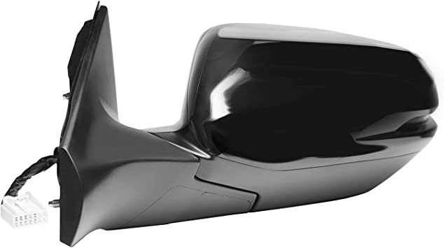 Fit System Passenger Side Mirror for Honda CR-V EX Model Foldaway Textured Black w//PTM Cover Power