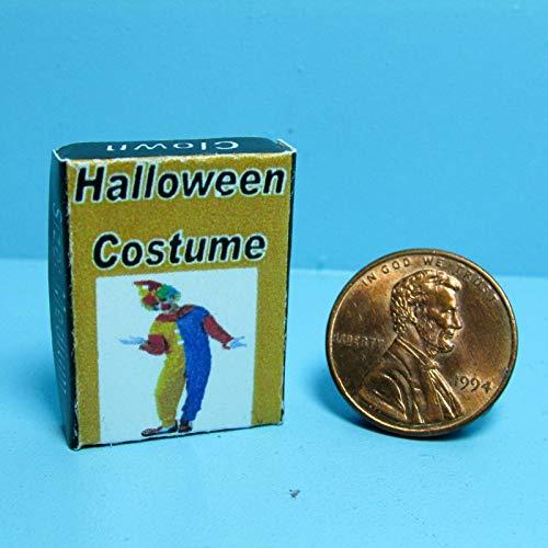 Dollhouse & Miniature Halloween Costume Box ~ Clown SH0038