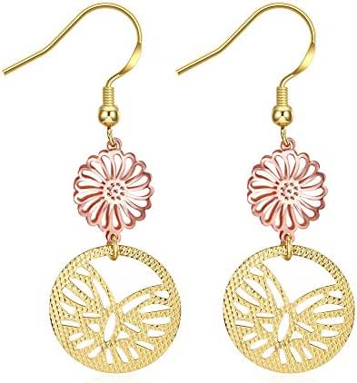 Sterling Silver Highly Polished Filigree Dangle Drop Earrings