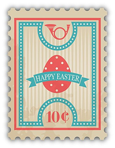 Happy Easter 10C Postage Stamp Sticker Decal Design 4