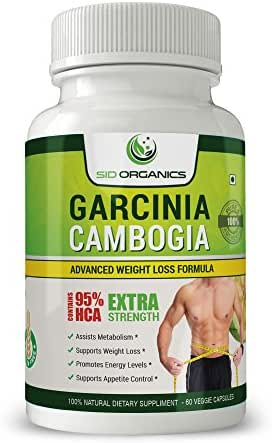 Pure Garcinia Cambogia - Best Extra Strength Weight Loss Supplement with 95% HCA Capsules - Natural Appetite Suppressant - Gelatin Free, Rapid Fat Burner, Carb Blocker- 100% Money Back Guarantee!