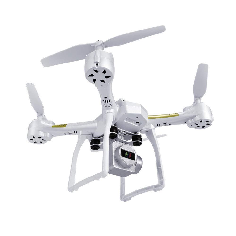 ZNHL Drone 500W HD fotografía aérea Cuatro Ejes helicóptero Juguete de Altura Fija de Larga duración VR conexión App Control,White