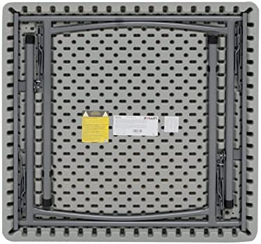 Maxchief XXL90 - Mesa plegable, 91.4 x 91.4 x 74.3 cm, color gris ...