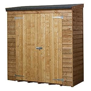 6x3 overlap wooden garden shed double doors pent roof felt garden sheds by waltons