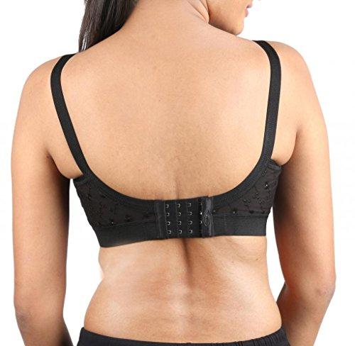 c7c3ad4f149e4 Trylo Krutika Chikan Women s Non - Wired Full Cup Cotton Bra  Amazon.in   Clothing   Accessories