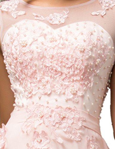 para mujer mangas Lea trapecio Rosa Vestido Sin Claro Rosa x6nvzgOw