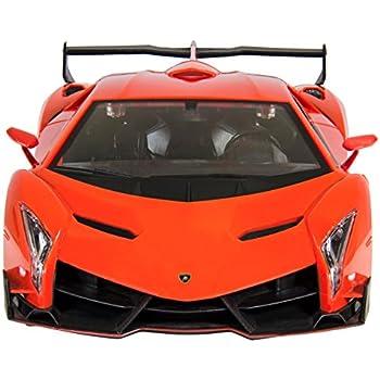 Amazon Com Fmt 1 24 Scale Lamborghini Veneno Car Radio Remote