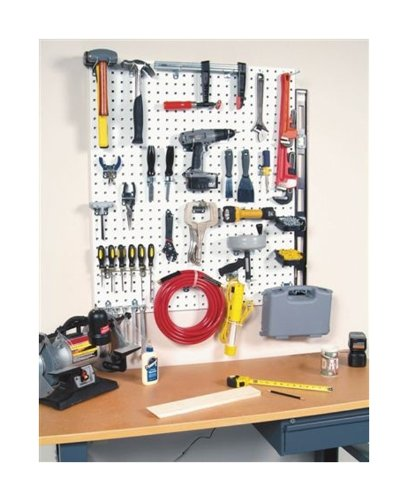 Triton Products LB18-CK 2 LocBoard Square Hole Pegboards 18-Inch W by 36-Inch H by 9/16-Inch D Steel with 30 pc, LocHook Assortment and Hanging Bin System by Storability (Image #2)