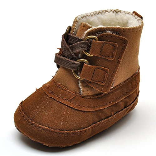 Baby Boys' Plush Boots Brown US 1