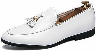 GLSHI Hommes Britanique Robe des Chaussures Mode Brevet Cuir Bordé Pointu Mariage Chaussure