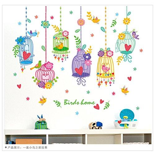 2016 New Arrival Bird Cage Kids Room Kindergarten Wall Sticker