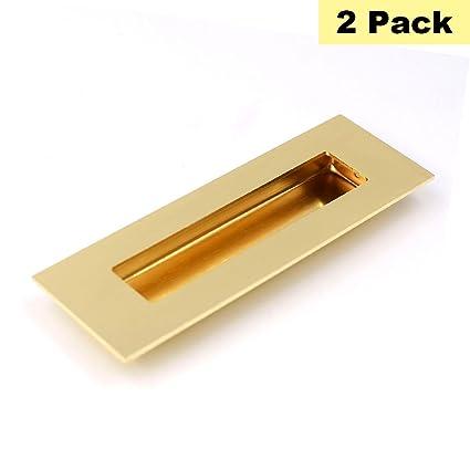 rectangular flush pull handle gold cabinet pulls sliding barn door