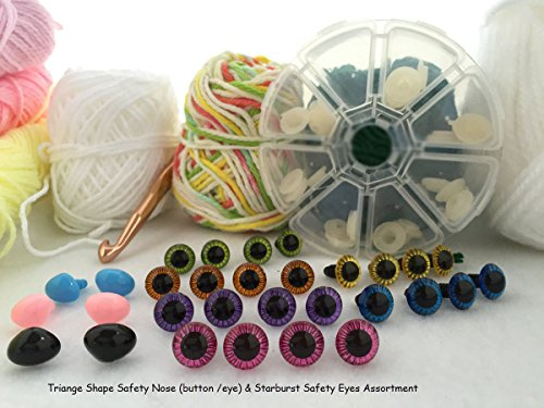 Craft Sewing Safety Eyes & Noses Assortment Gift Set Sew Crochet Amigurumi Teddy Bear by bangdanmall crafts ok